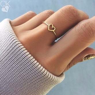 nail accessories jewels ring gold ring heart heart jewelry jewelry