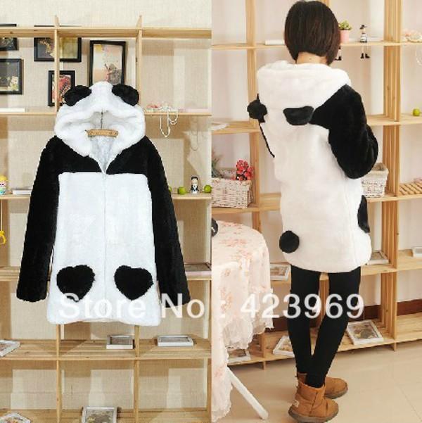 panda kawaii hoodie sweater