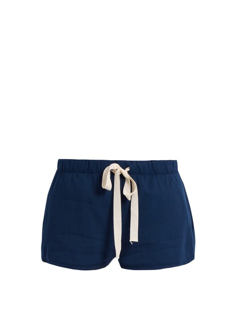 Loup Charmant shorts drawstring cotton navy