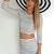 White Pencil/High Waist Skirt - Black and White Pin Stripe | UsTrendy