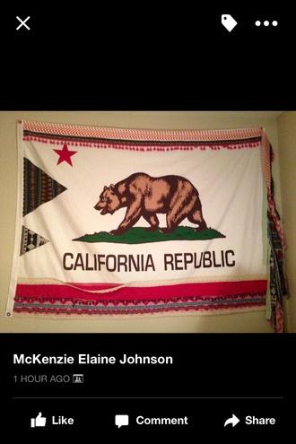 home accessory california flag anthropologie california california republic