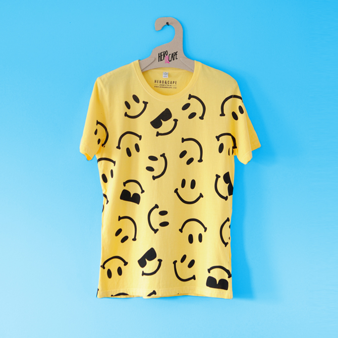 Hero&Cape Acid House Smiley T-shirt