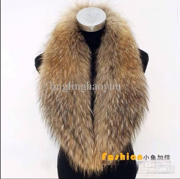 scarf faux fur collar fur scarf