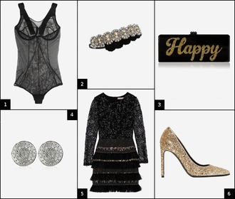 onto my wardrobe blogger holiday dress bodysuit lingerie diamonds clutch new year's eve glitter dress party shoes party outfits glitter shoes bag jewels dress shoes