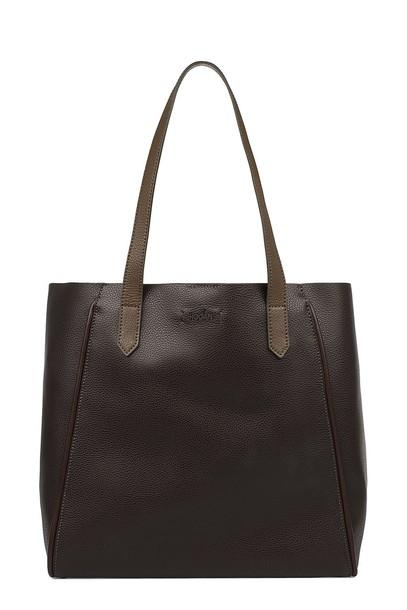 Hogan leather brown bag