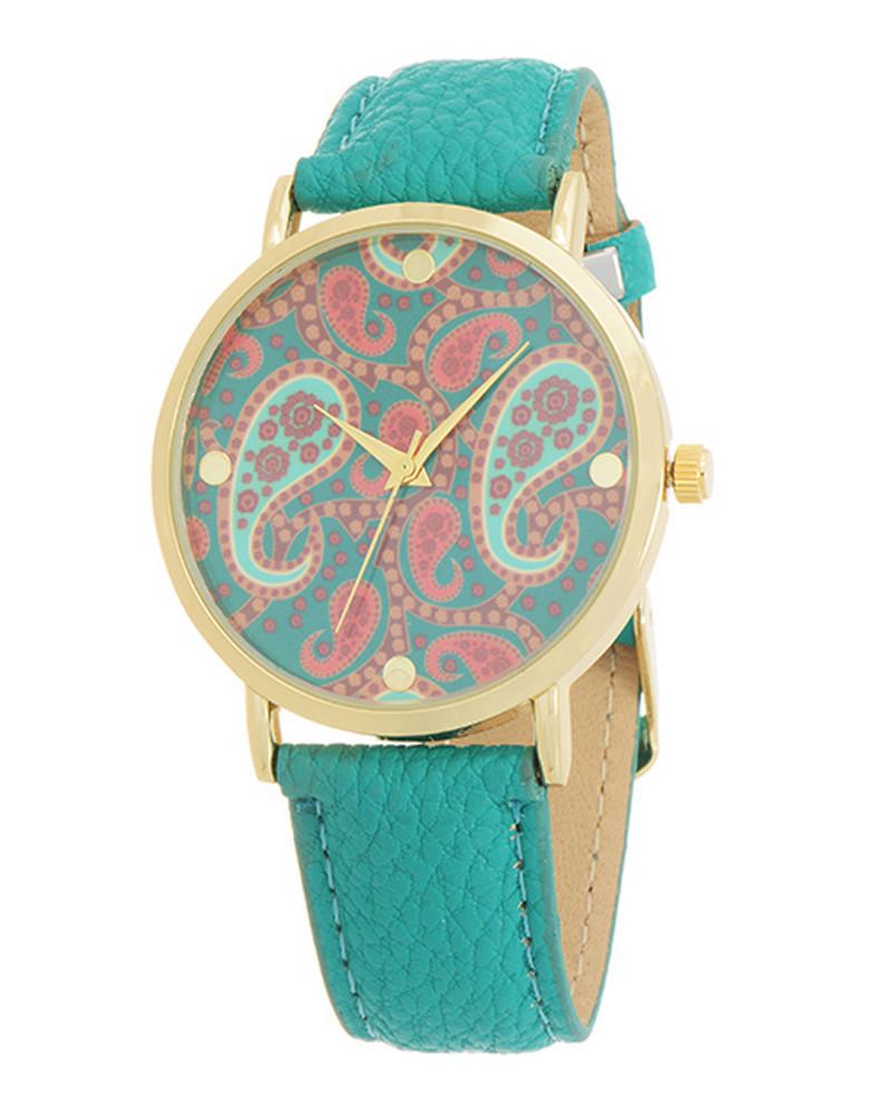 Paisley Print Watch