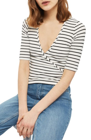 Topshop Stripe Wrap Top | Nordstrom