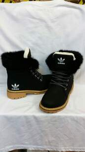 shoes,fur,black,adidas,boots,adidas shoes,black boots,brown,winter boots,adidas originals,black and white,white,adidas boots,adidas boots with fur,addidas fur boots,timberlands,cute