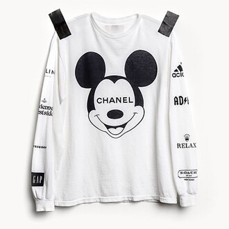 chanel white sweater chanel