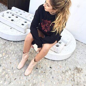 blouse yeah bunny black oversized hoodie sweatshirt tattoo tumblr
