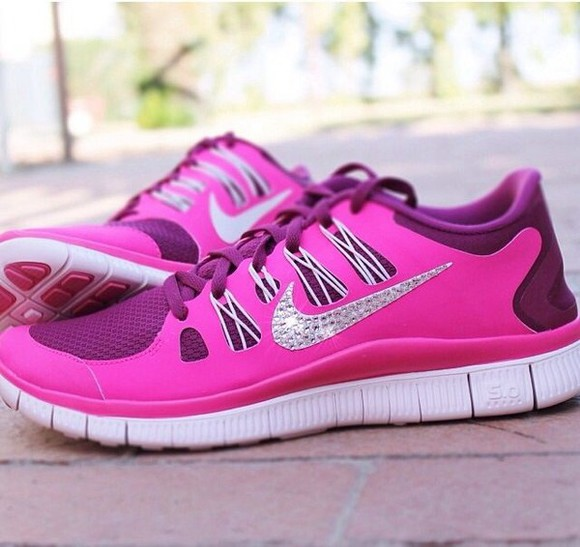 trainers shoes pink nike