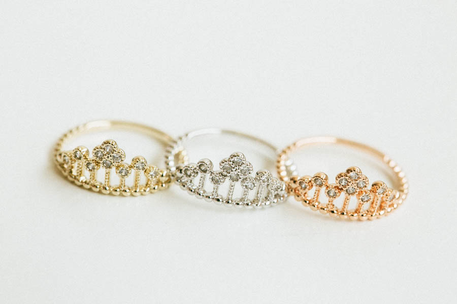 Princess crown ring,jewelry,ring,bridesmaid ring,anniversary ring,engagement ring,cz ring,bridesmaid gift,knuckle ring,skd189