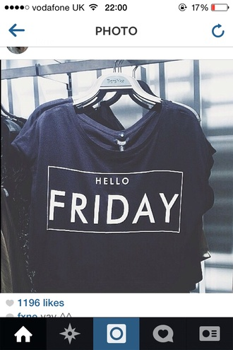 shirt hello friday black t-shirt oversized t-shirt short sleeve