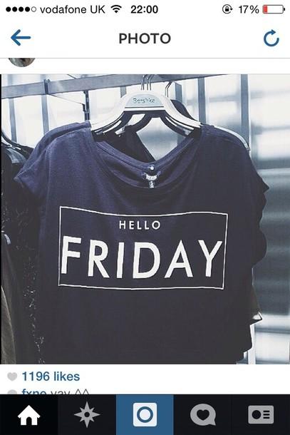 shirt hello friday black t-shirt t-shirt oversized t-shirt short sleeve