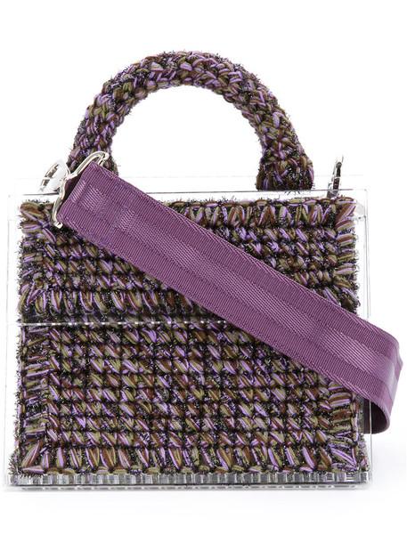metallic women purple pink bag