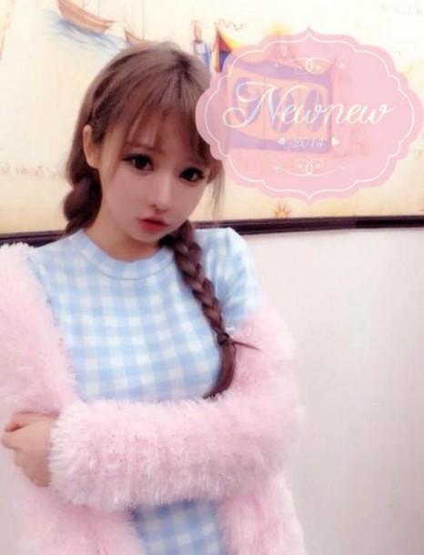 dress kawaii pastel cute cardigan pink coat
