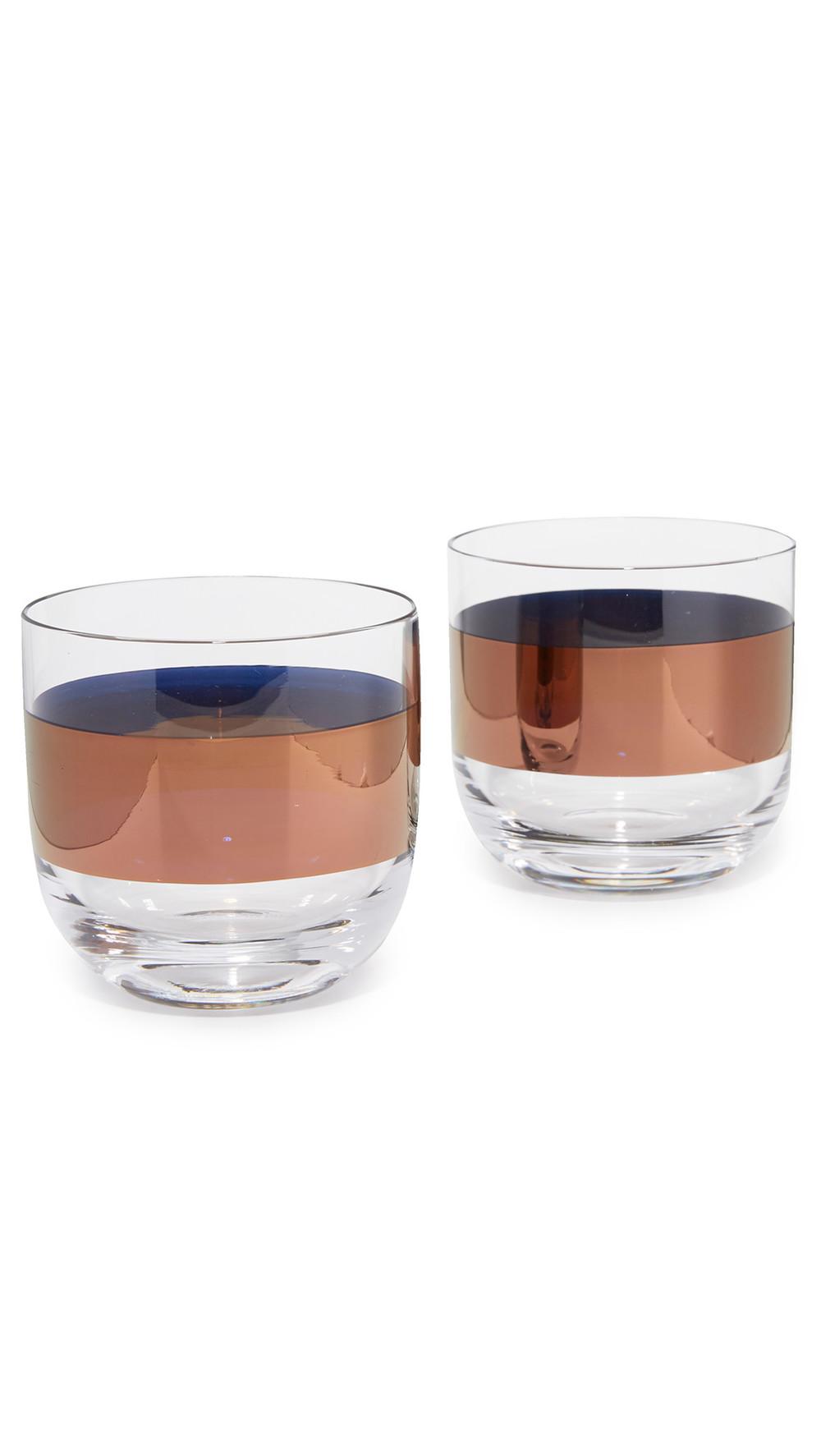 Tom Dixon Tank Whisky Glasses in copper