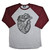 Burgundy Heart Raglan