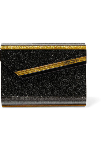 candy clutch gold black bag