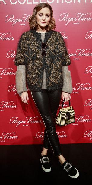 Shoes Sweater Blogger Olivia Palermo Paris Fashion Week 2018 Fashion Week Pants Wheretoget