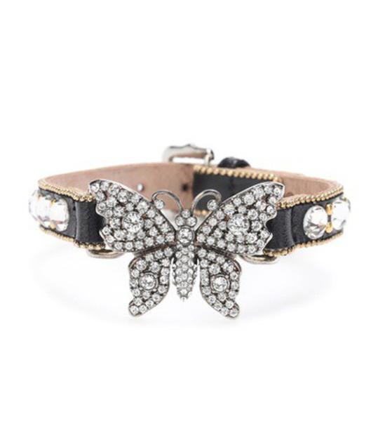 gucci embellished leather black jewels