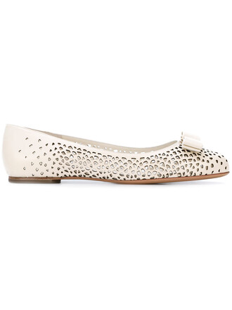 women flats leather nude shoes