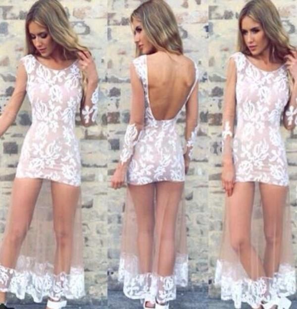 dress mesh maxi dress