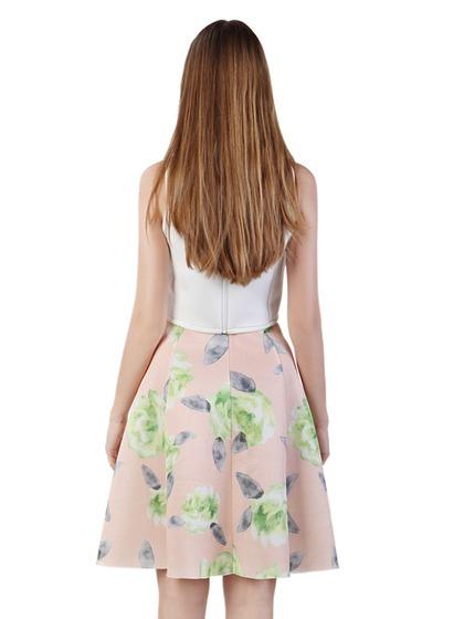 Choies Design Limited Fan Fare Floral Print Visco-Elastic A-line Skirt - Choies.com