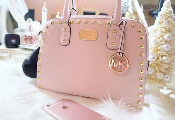 c9822f0ca54a03 bag, michael kors, baby pink, michael kors bag, pink bag, handbag ...