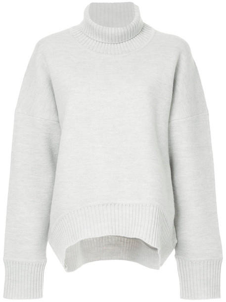 Cityshop jumper turtleneck women wool grey sweater