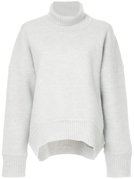 jumper turtleneck women wool grey sweater