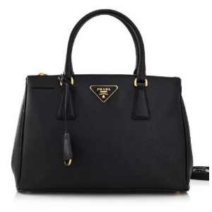 Prada Black Saffiano Leather Lux Tote Bag - Sale