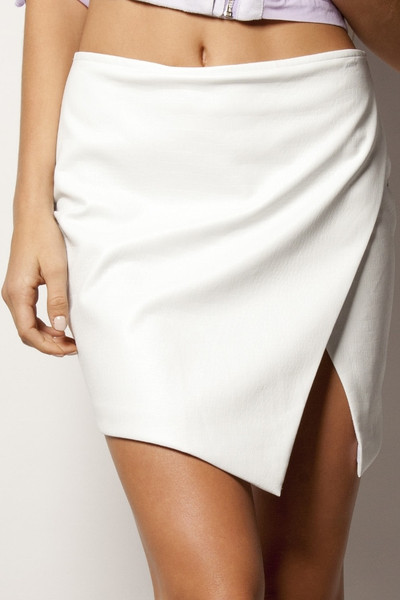 Mini Skirt White Croc - By Premonition | Honey Peaches