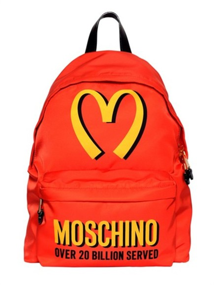 bag backpack moschino special edition fw14 rucksack moschino