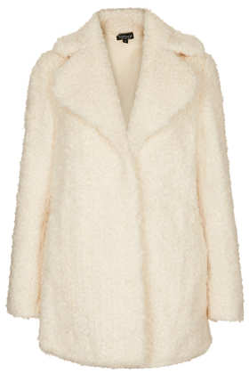 Teddy Fur Pea Coat - Jackets & Coats  - Clothing  - Topshop