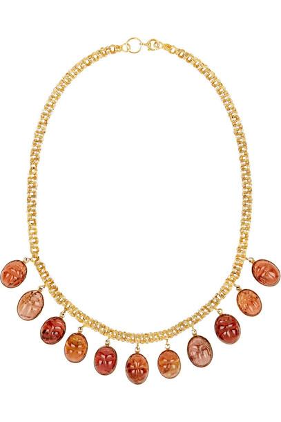 Fred Leighton 1870s 14-Karat Gold Garnet Necklace