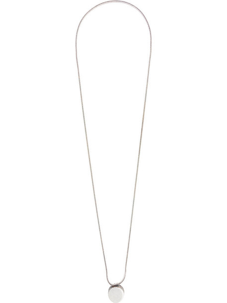 GOLDEN GOOSE DELUXE BRAND long metal women necklace pendant grey metallic jewels