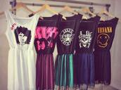 dress,clothes,nirvana,the doors,doors,band,band t-shirt,boy bands,kiss,cartoon,cute,pink,yellow,guns and roses,gun,roses,rock,grunge,emo,music,hipster punk,band merch,punk,skater dress,harajuku,hipster,gothic lolita,pastel goth,soft grunge,alternative,bag,nirvana dress