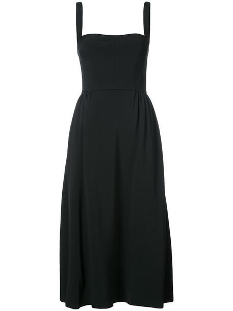 Adam Lippes dress swing dress women spandex black