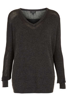 Knitted Sheer Solid Jumper - Knitwear  - Clothing  - Topshop