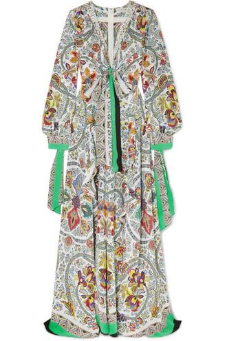 dress maxi dress maxi lace white silk