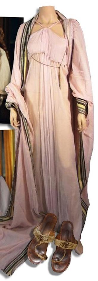dress long dress soft dress empire waist halter top shawl sandals robe