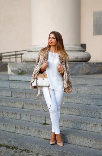 a piece of anna blogger bag jacket shoes blouse pants jewels