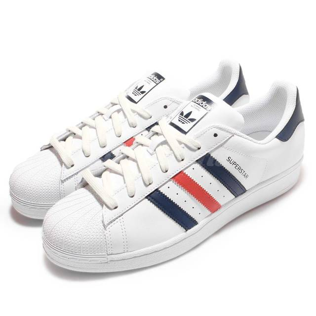 Adidas Originals Superstar Foundation White Navy Red Mens Casual
