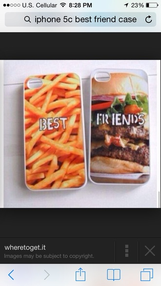 top best friend cases hamburger fries iphone 5 case