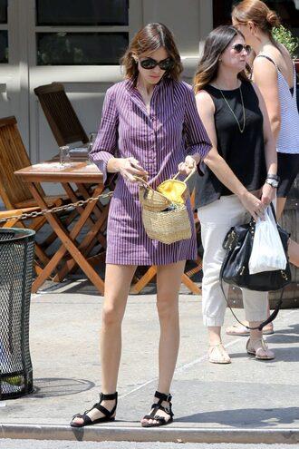 dress sandals flat sandals alexa chung streetstyle shirt dress