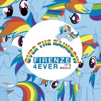 home accessory rainbow my little pony poster olivia magris art poster decoration home decor my little pony colorful multicolor firenze4ever rainbow