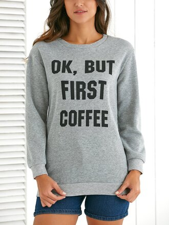 sweater coffee morning sweater mornings grey grey sweater comfy ok but firts coffee