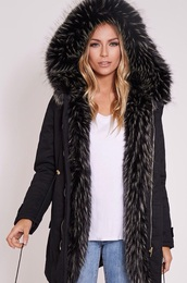 coat,this exact parka black fur  coat,this exactly black parka fur coat