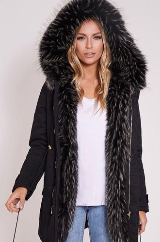 coat this exact parka black fur  coat this exactly black parka fur coat